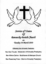 Service of Union Order of Service