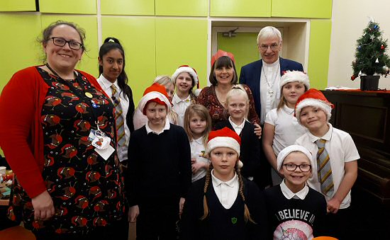 Children from a local primary school came to sing at Bennochy Parish Church's Christmas lunch