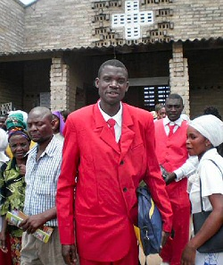 Moses in his red suit