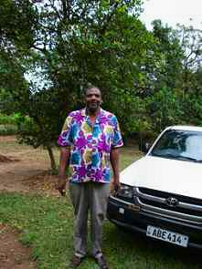 Deacon Kabila outside my house