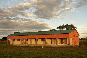 The new classroom block which has two classrooms and toilet facilities