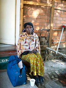 A recent early morning visitor who has TB and needed some help to get home to look after her 6 orphaned grandchildren