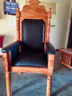 The Chair made for the enthronement of Choma Mayor!