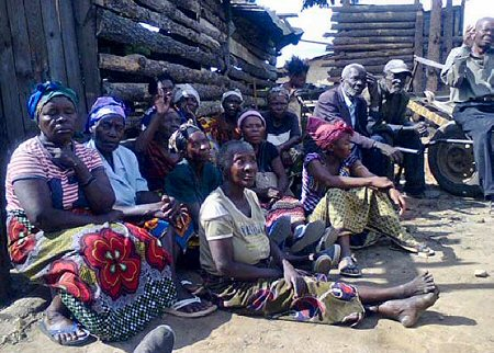 Some of the older vulnerable people of Kandabwe