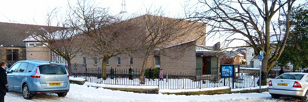 Bennochy Parish Church in Snow