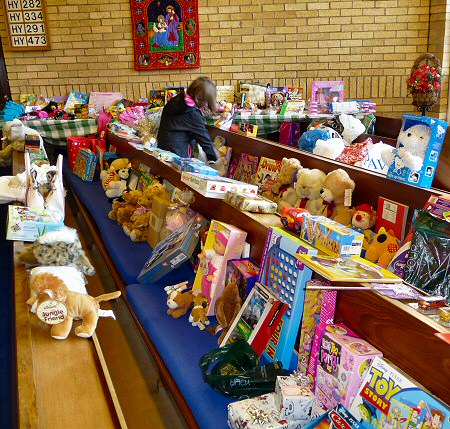 Donated toys are sorted for uplift