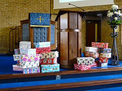 Christmas boxes for the Blythswood Shoebox Appeal